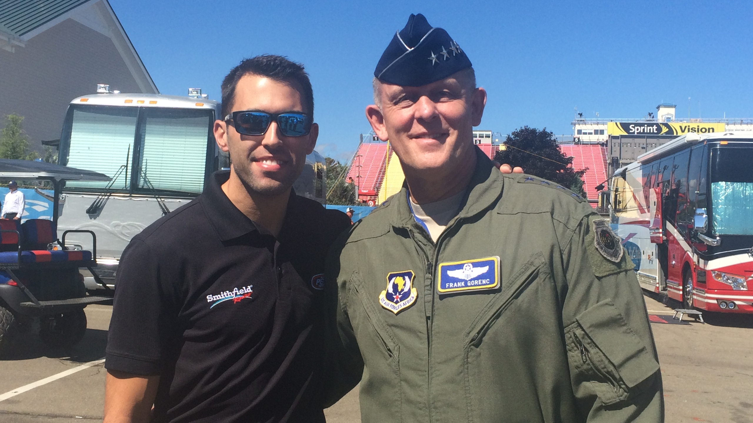Almirola and Air Force General