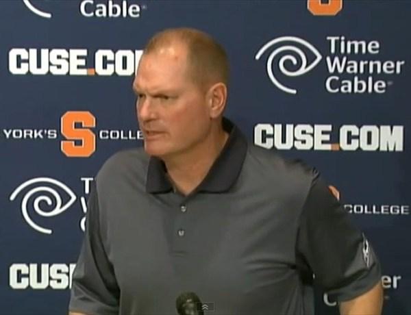 Syracuse Football Coach Scott Shafer news conference 9-25-14_904975399725845818-118809342