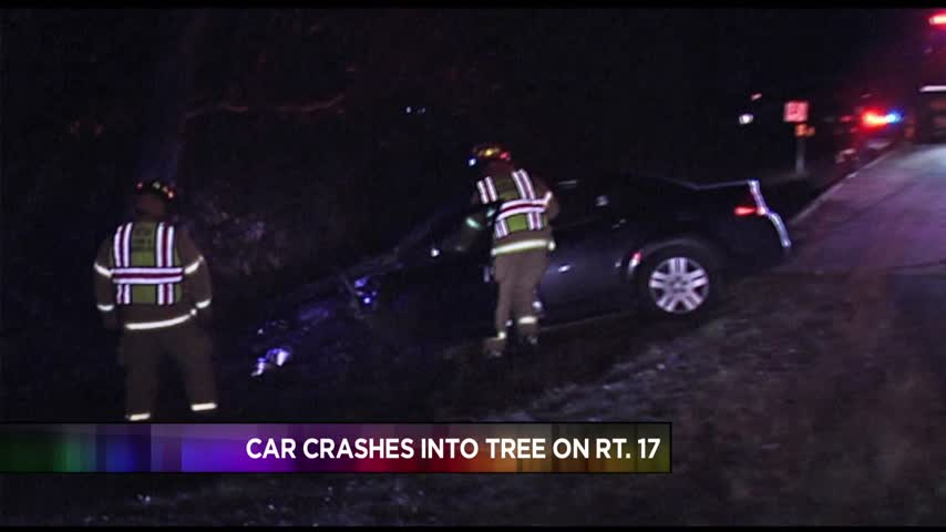 Car Crashes into Tree on Rt- 17_85818705