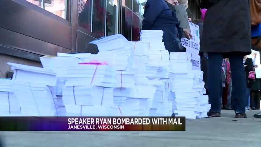 House Speaker Paul Ryan Bombarded With Postcards_45939075