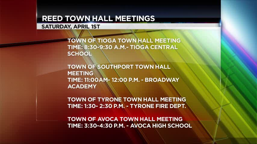 Congressman Tom Reed to Hold Several More Town Hall Meetings_08658934