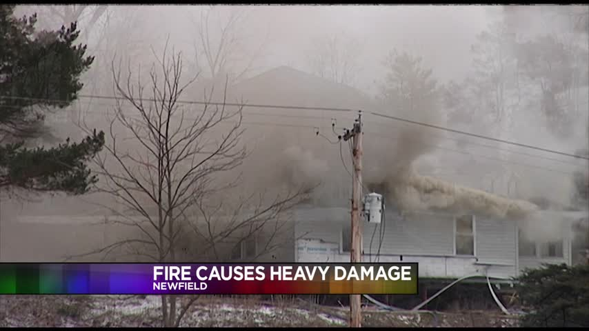 Fire Causes Heavy Damage in Newfield