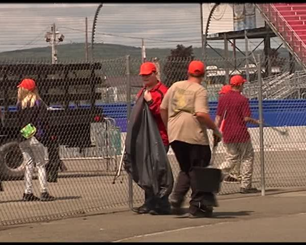 Cleanup begins following NASCAR weekend at The Glen_96224259