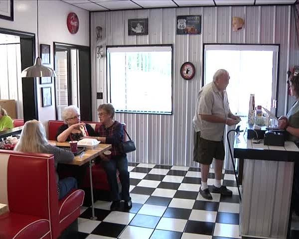 Bath burger restaurant styled around 1950s_52972731