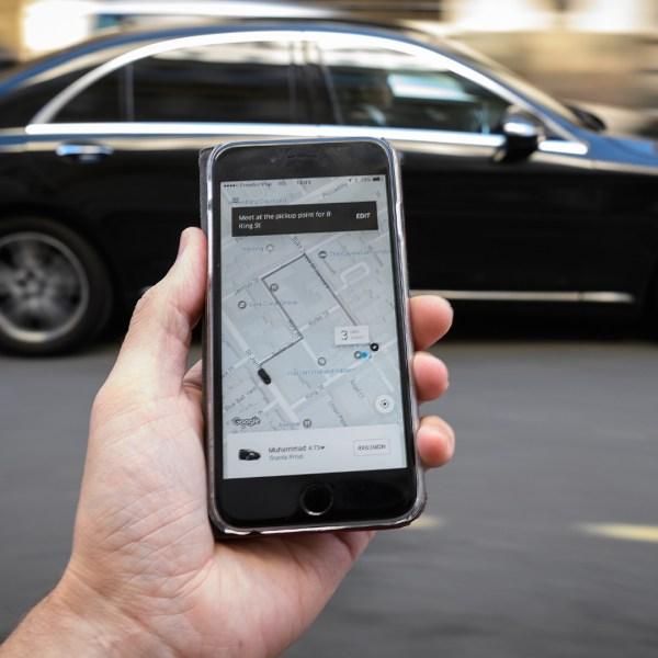 Uber ride-hailing app illustration in London25886848-159532