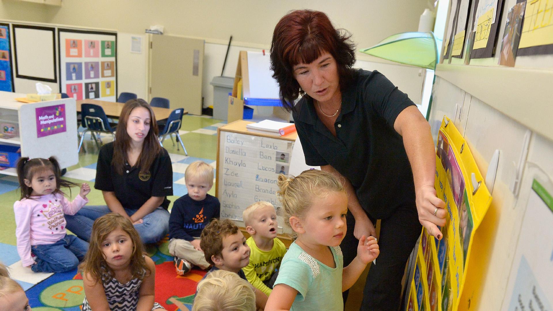 Teachers, pre-school, KinderCare, students, children, classroom86085702-159532