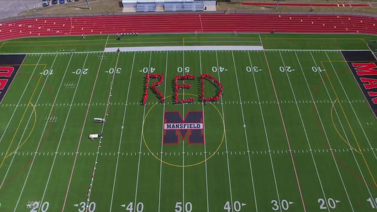 MANSFIELD, Pa. (18 NEWS) - Dozens of Mansfield University students gathered on the football field on RED Friday to honor soldiers currently deployed.