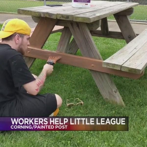 Workers help Little League