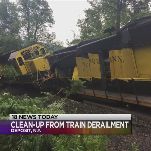Clean-up continues from train derailment