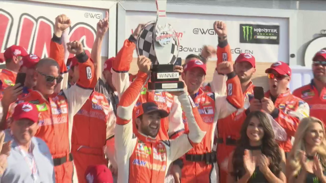 Elliott Family Celebrates Win at The Glen