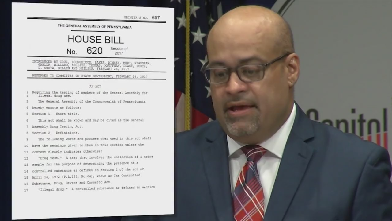 Lawmaker calls for random drugs tests in PA House, Senate