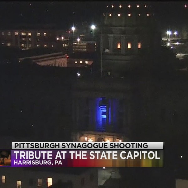 PA state capitol lights to honor victims of synagogue shooting