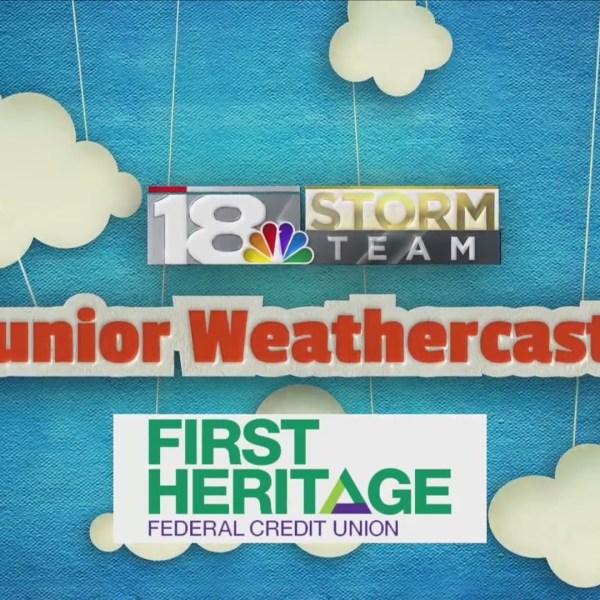 February's Junior Weathercaster: Donovan