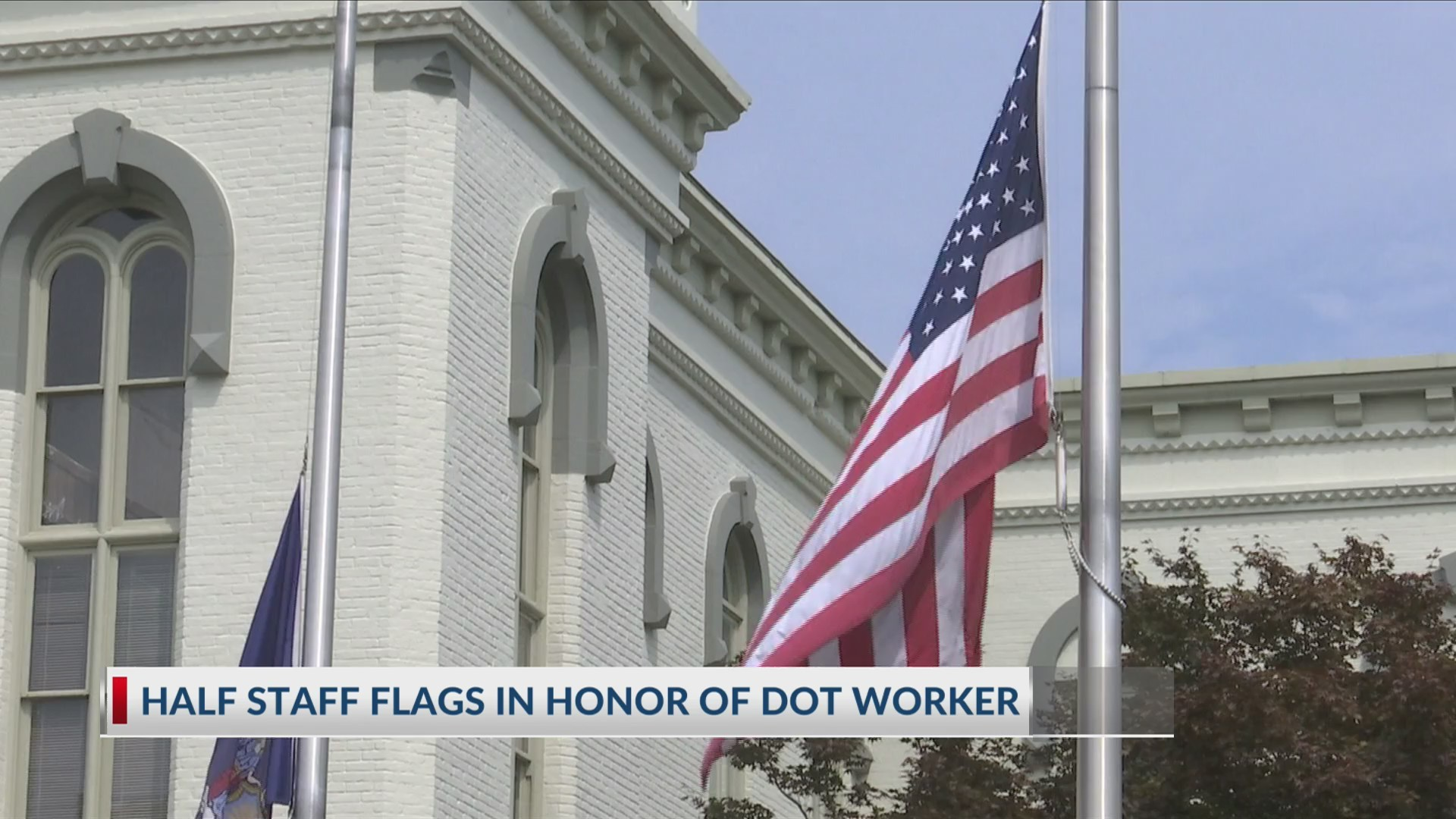 Flags at half-staff for NYDOT worker