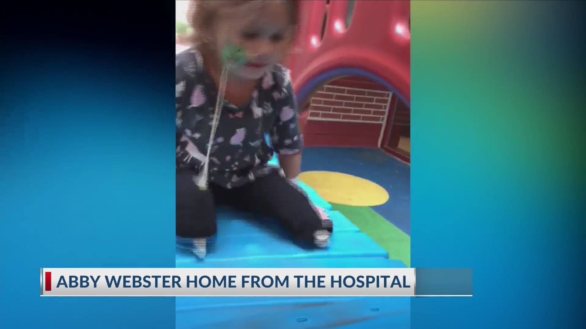 Abby Webster home from the hospital after receiving surgery