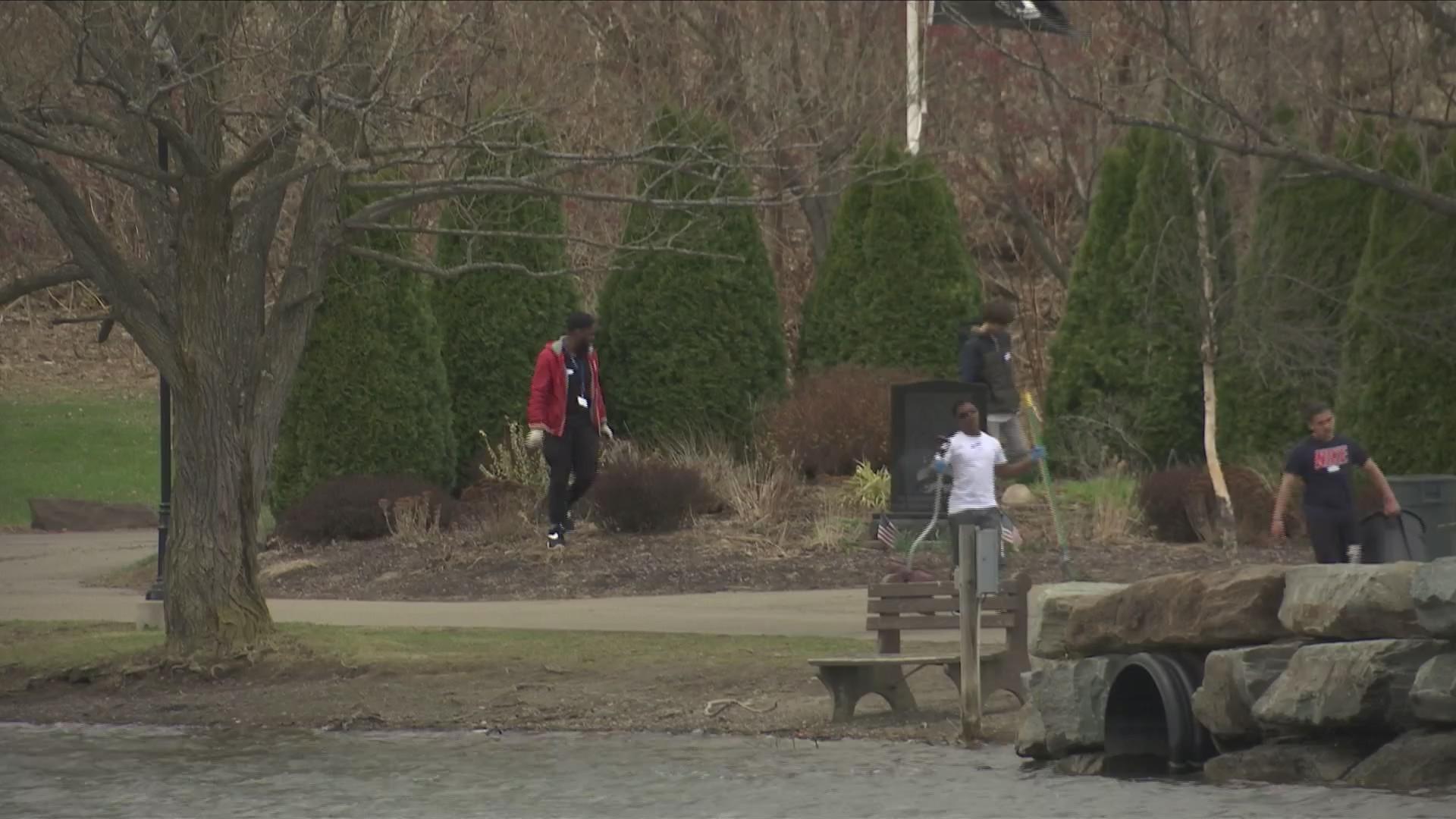 Eldridge Park clean up