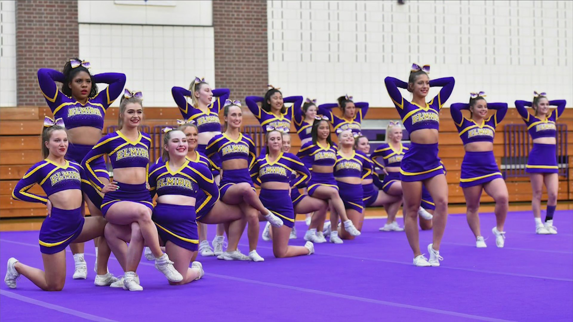 Elmira College cheerleading takes fourth place at Nationals