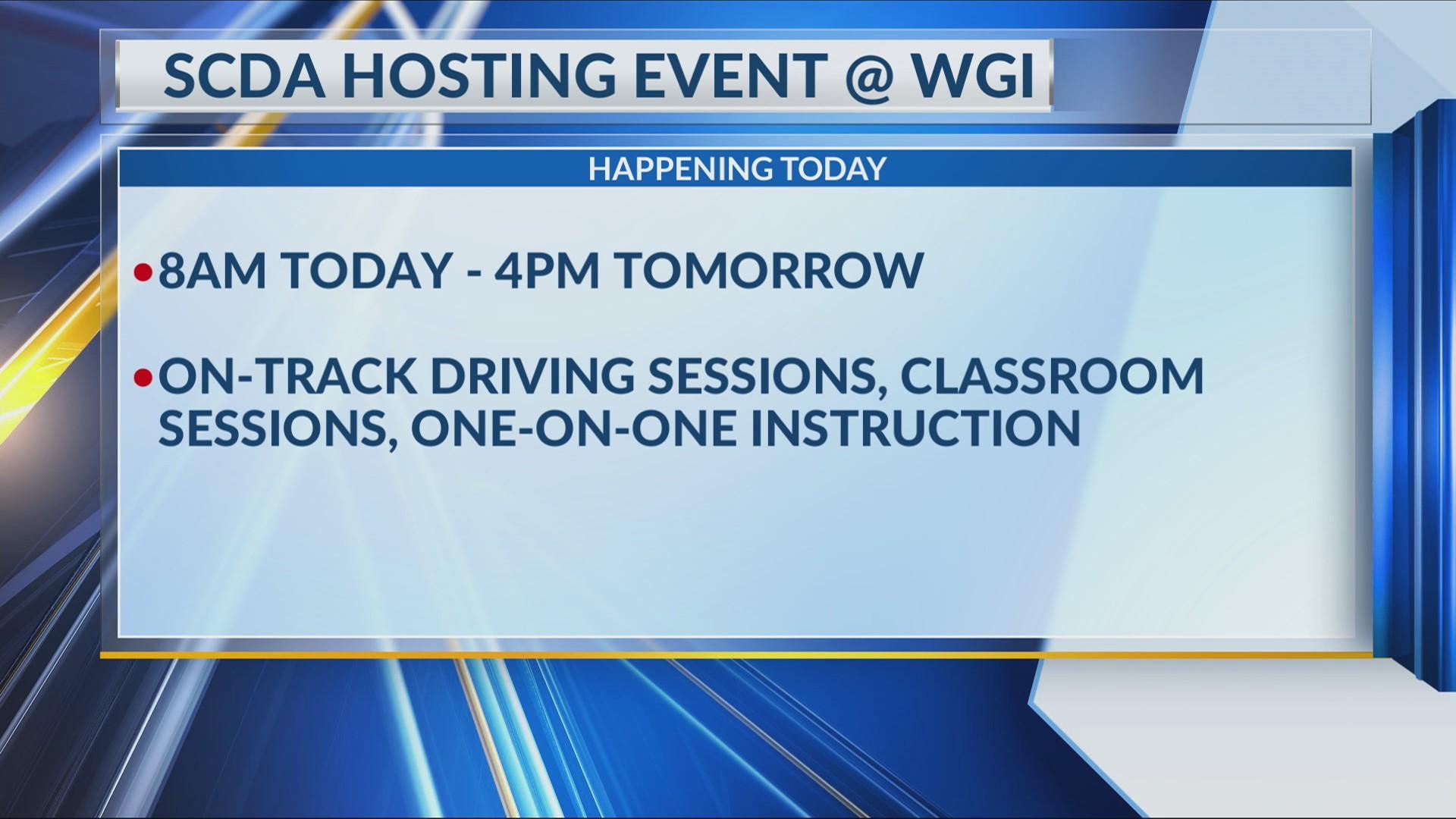 Sports Car Driving Association hosting event at WGI