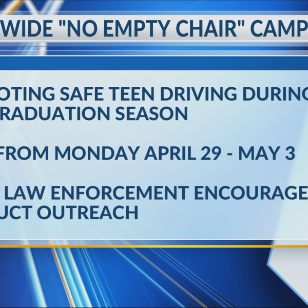 "State promotes safe teen driving during ""No Empty Chair"" campaign"