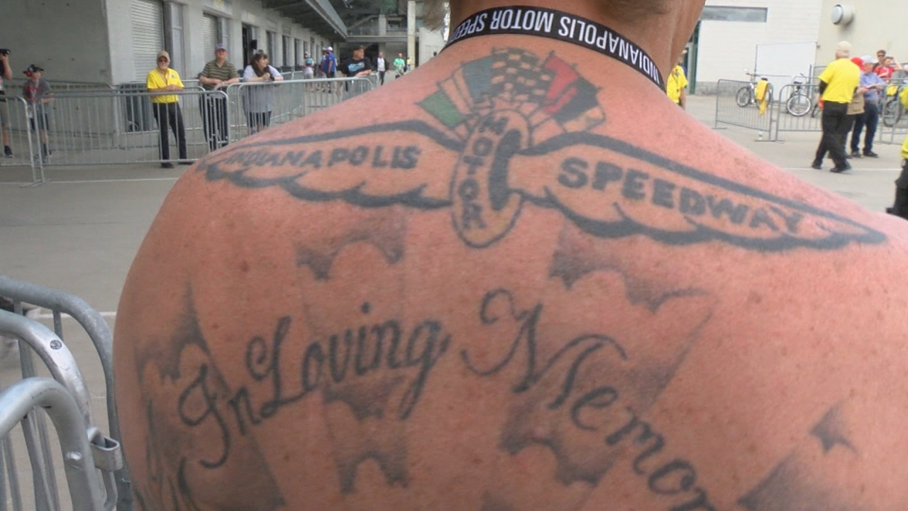 Tattoos show passion of Indianapolis Motor Speedway fans, drivers