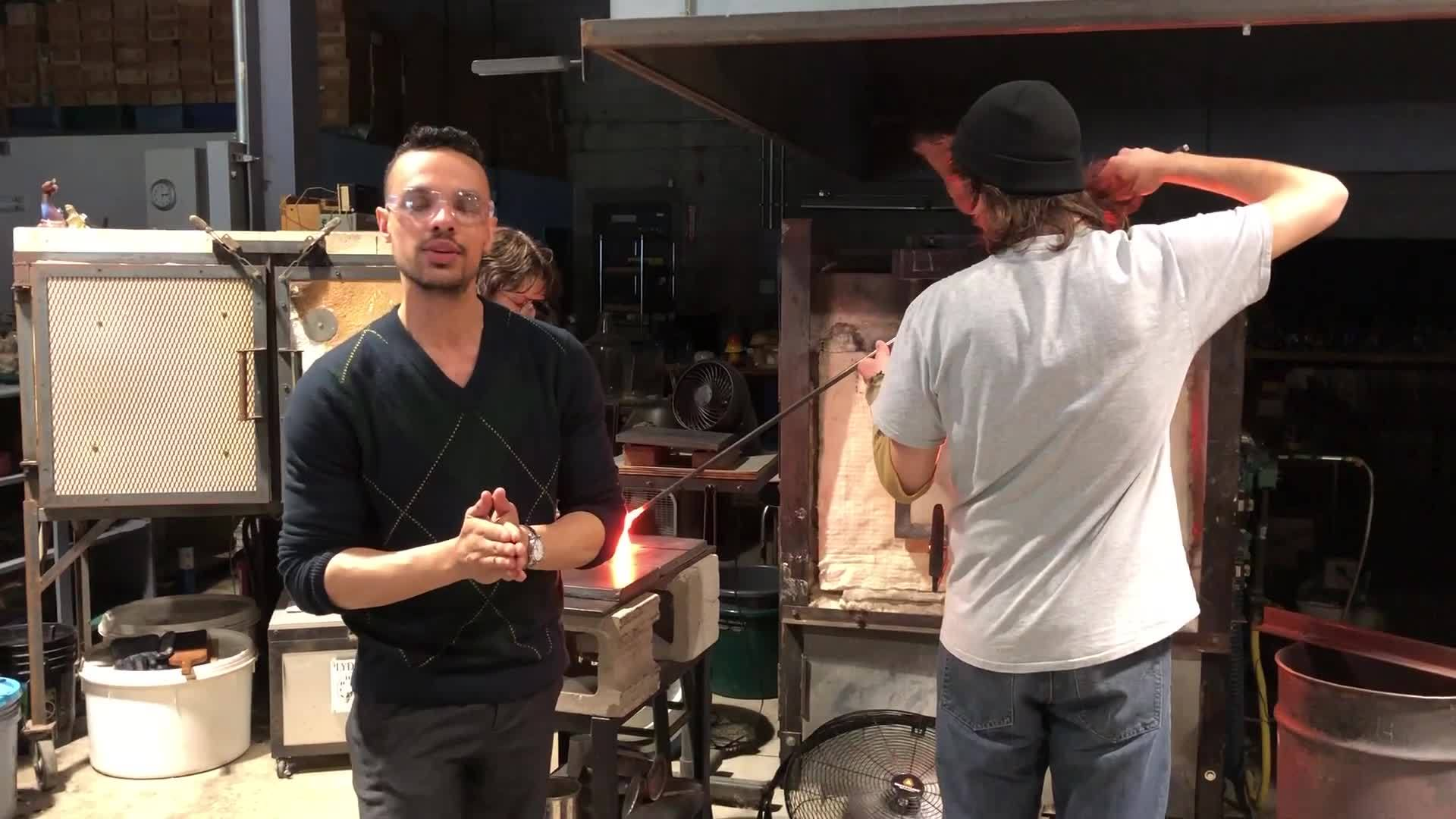 WEB EXTRA: Here's how you make glass; mother - son team show you how