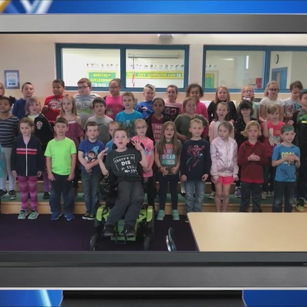 Weather Wisdom: Group 1 of the 2nd grade class from Pine City Elementary School