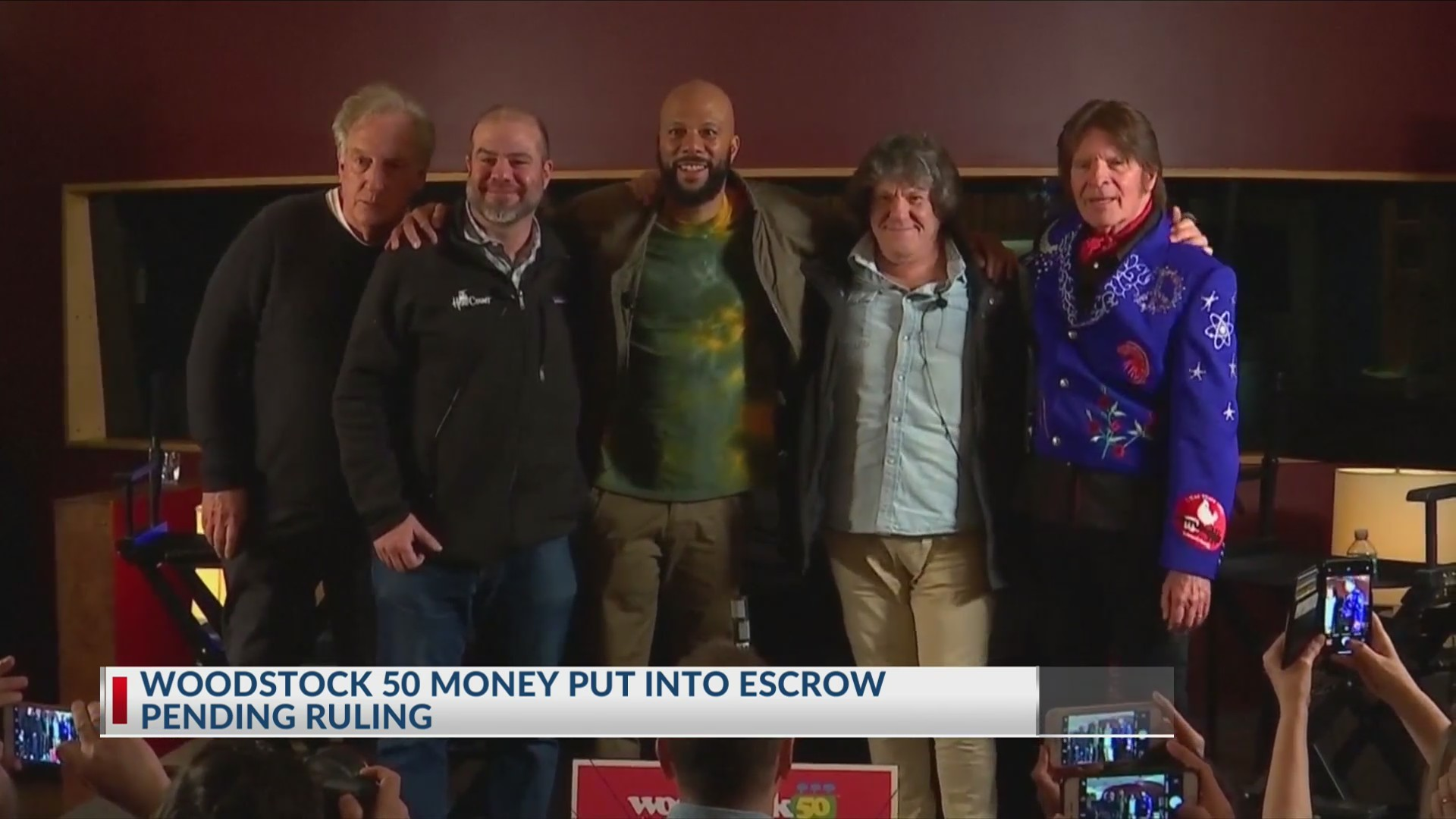 Woodstock money put into escrow