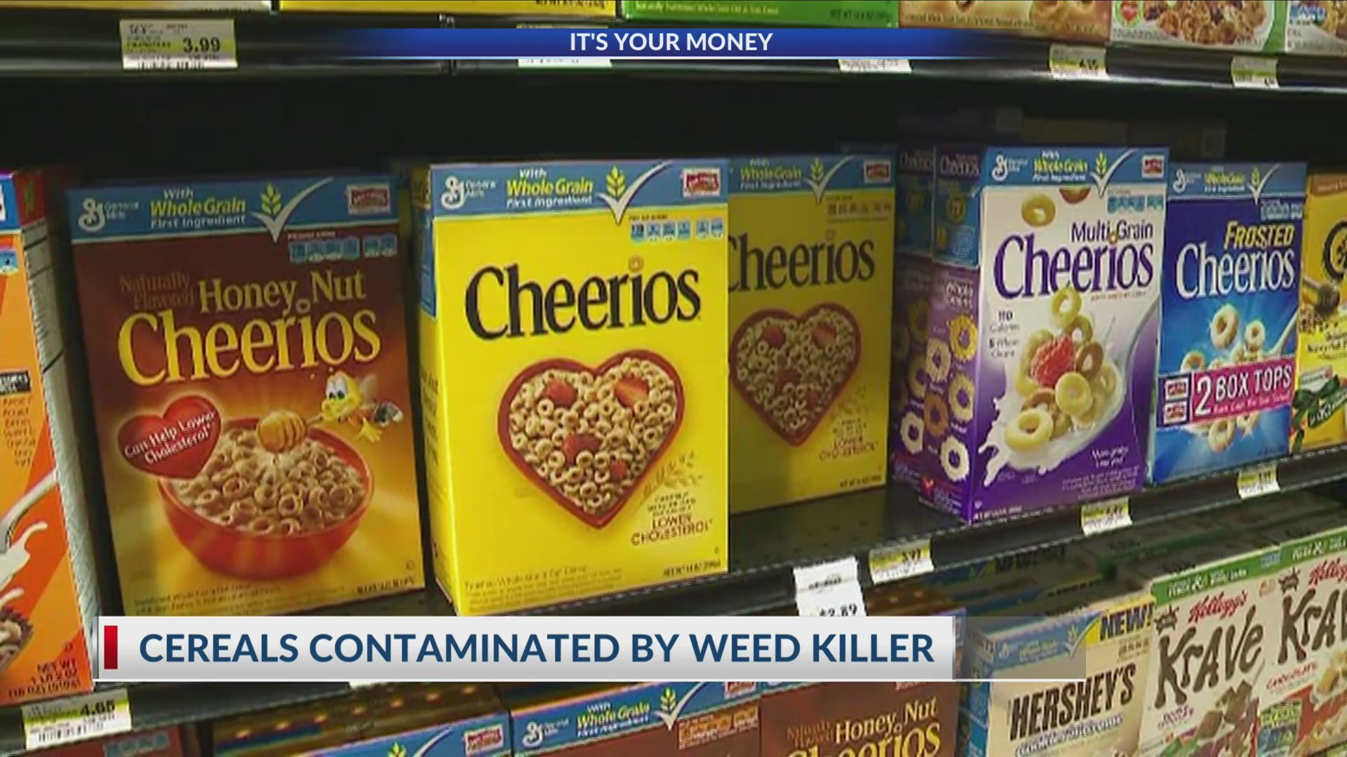 Cereals contaminated by weed killer
