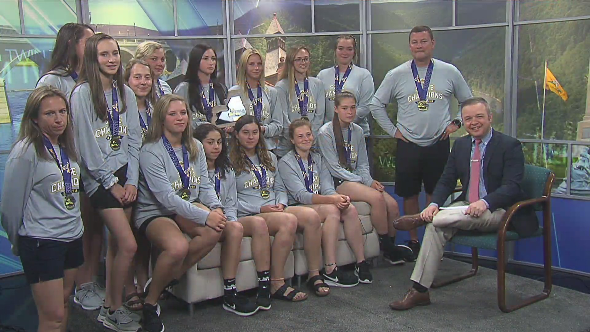 Corning softball state champs live on WETM