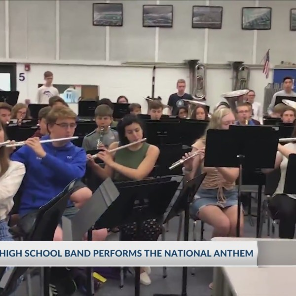 Horseheads High School band performs National Anthem; nominate your school band to be featured