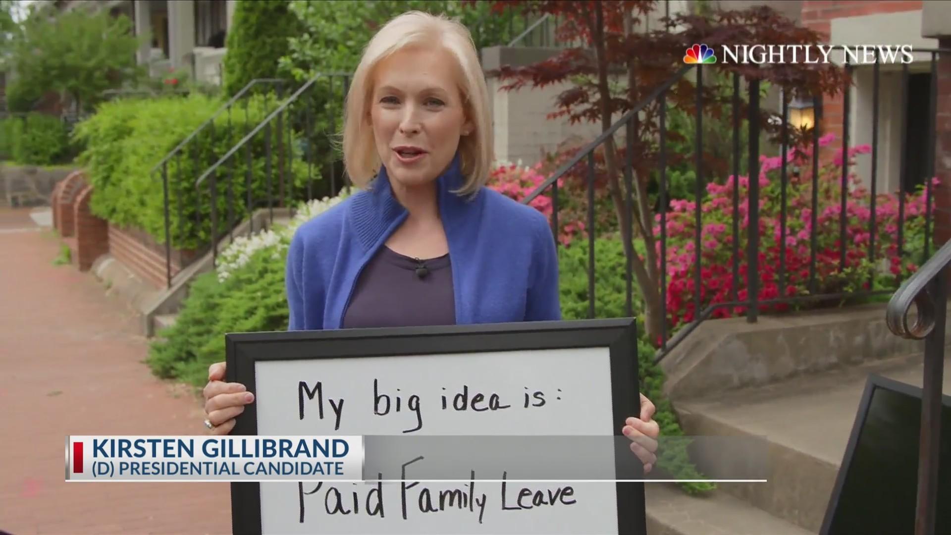 Kirsten Gillibrand's big idea