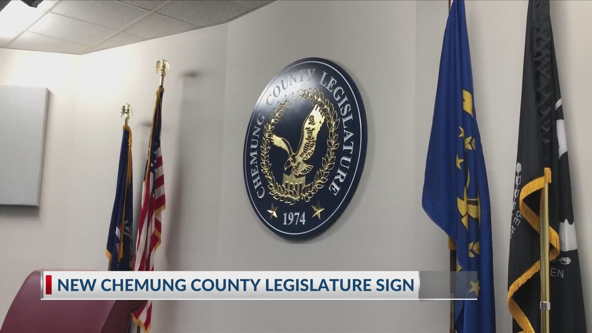 New Chemung County Legislature Sign