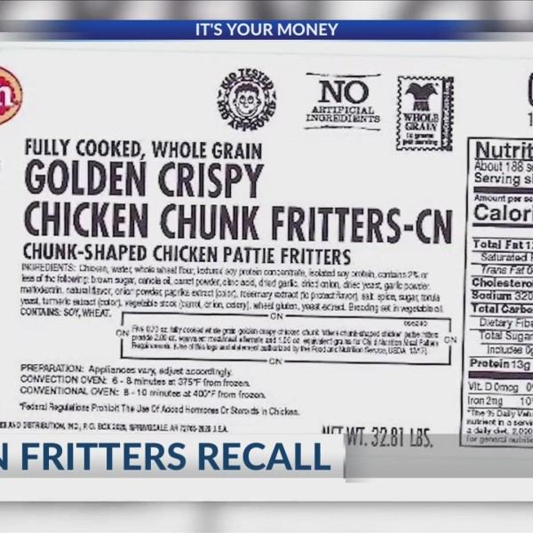 Tyson Fritters Recall