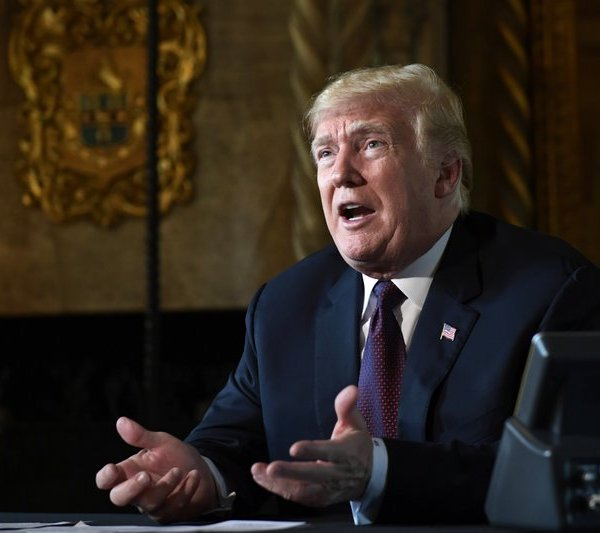 "FILE - In this Thursday, Nov. 22, 2018 file photo, President Donald Trump speaks to reporters following his teleconference with troops from his Mar-a-Lago estate in Palm Beach, Fla. President Donald Trump says he will be making Palm Beach, Florida, his permanent residence after he leaves the White House, rather than returning to Trump Tower in New York. Trump tweeted late Thursday, Oct. 31, 2019 that he cherished New York. But he added that ""despite the fact that I pay millions of dollars in city, state and local taxes each year, I have been treated very badly by the political leaders of both the city and state."" (AP Photo/Susan Walsh, File)"