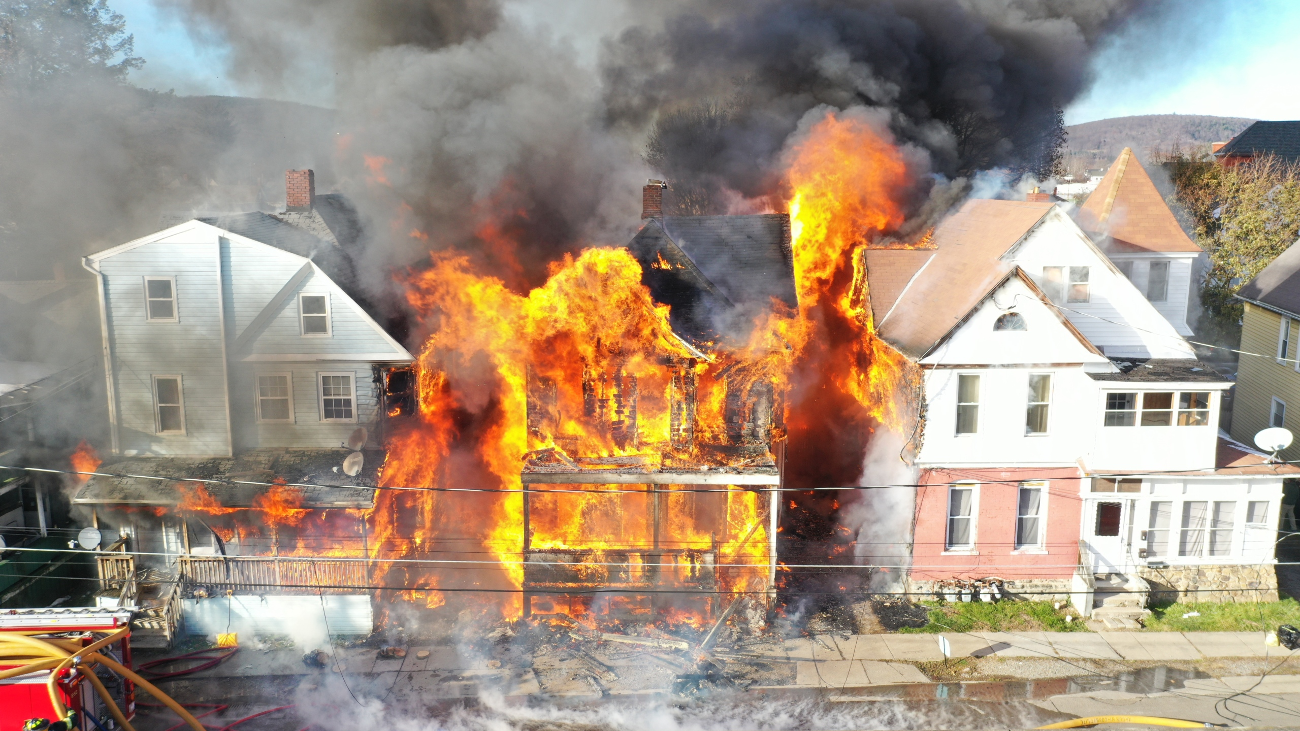 Massive fire in Hornell leaves 13 adults, 8 children without a home; altogether 7 homes damaged