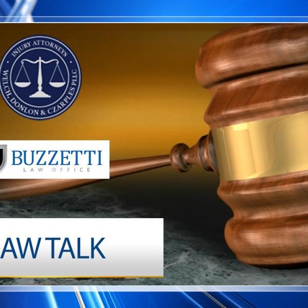 Law Talk Fullscreen with sponsors