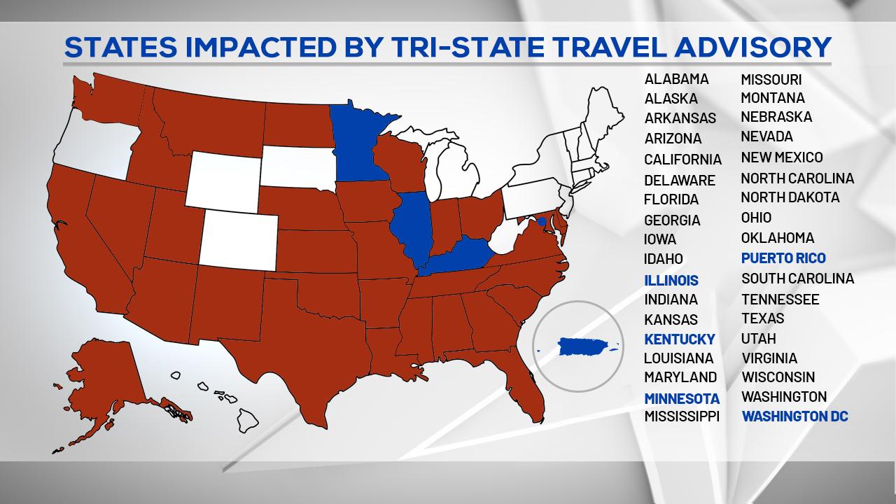 Picture of: 3 More States Added To New York Coronavirus Travel Advisory Plus Puerto Rico Washington D C