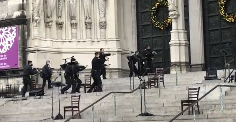 Gunman shot by police at NYC cathedral Christmas concert | WETM