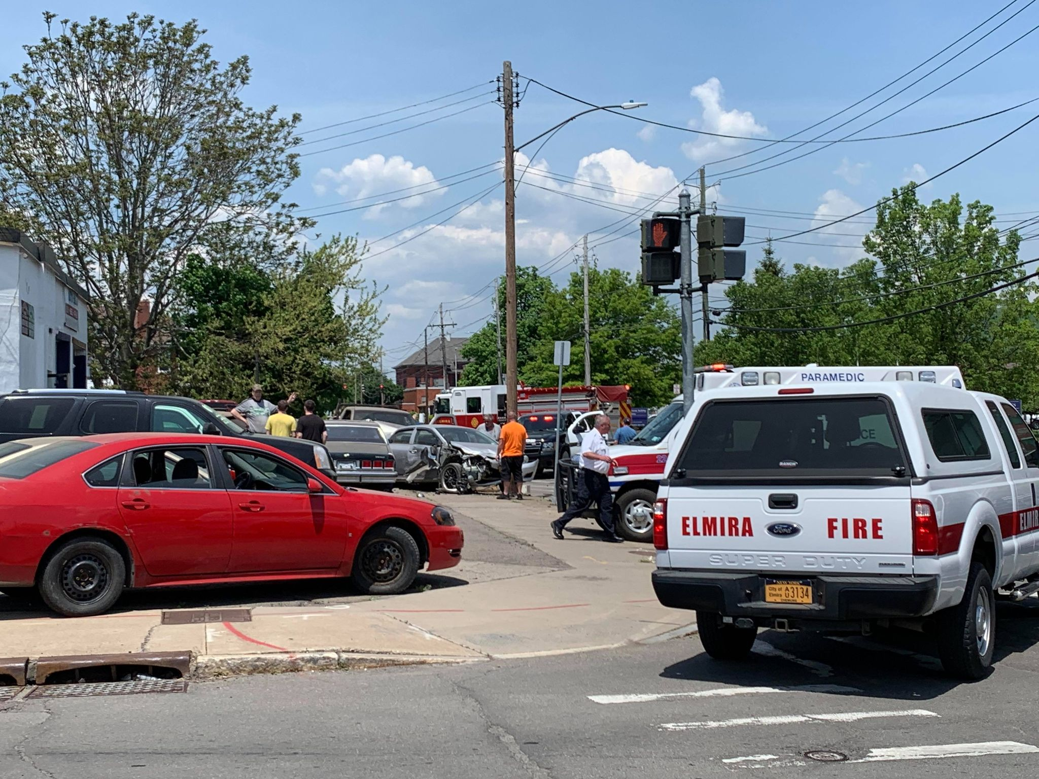 Multi-vehicle accident closes Madison Ave near St. Joes, power lines down