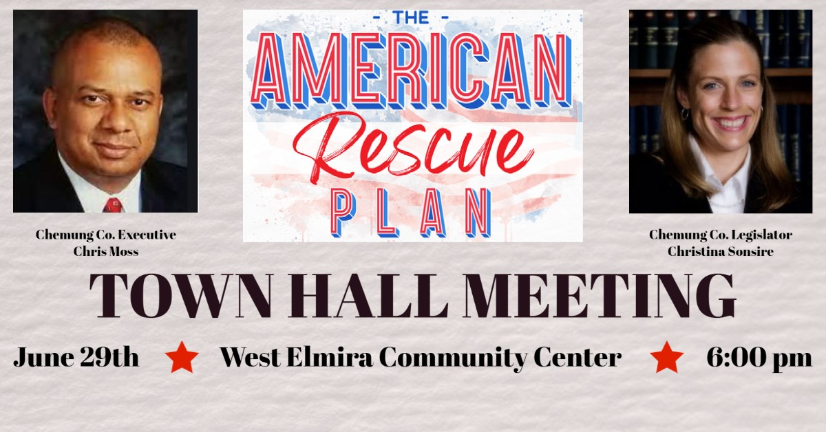 Chemung County holding town hall to discuss American Rescue Plan spending