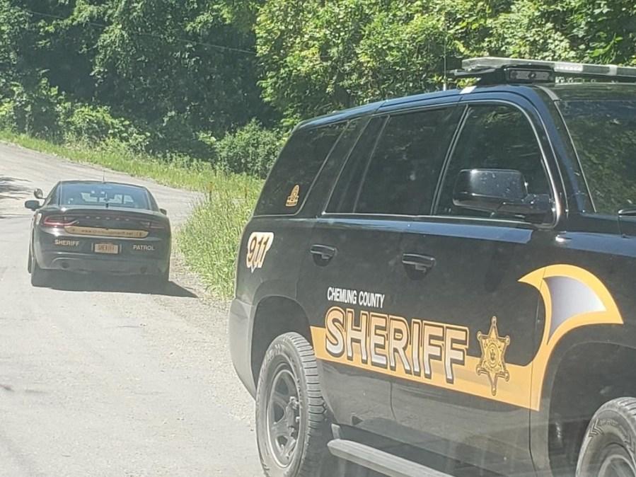 US Marshals conducting manhunt in Chemung County. Chemung County Sheriff Vehicle