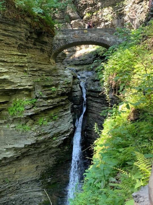 Watkins Glen Entrance Waterfall