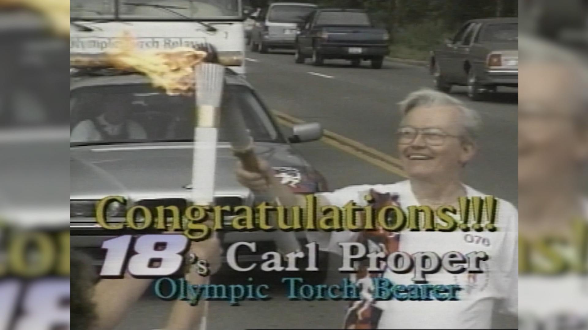 Carl Proper Olympic Torch Bearer