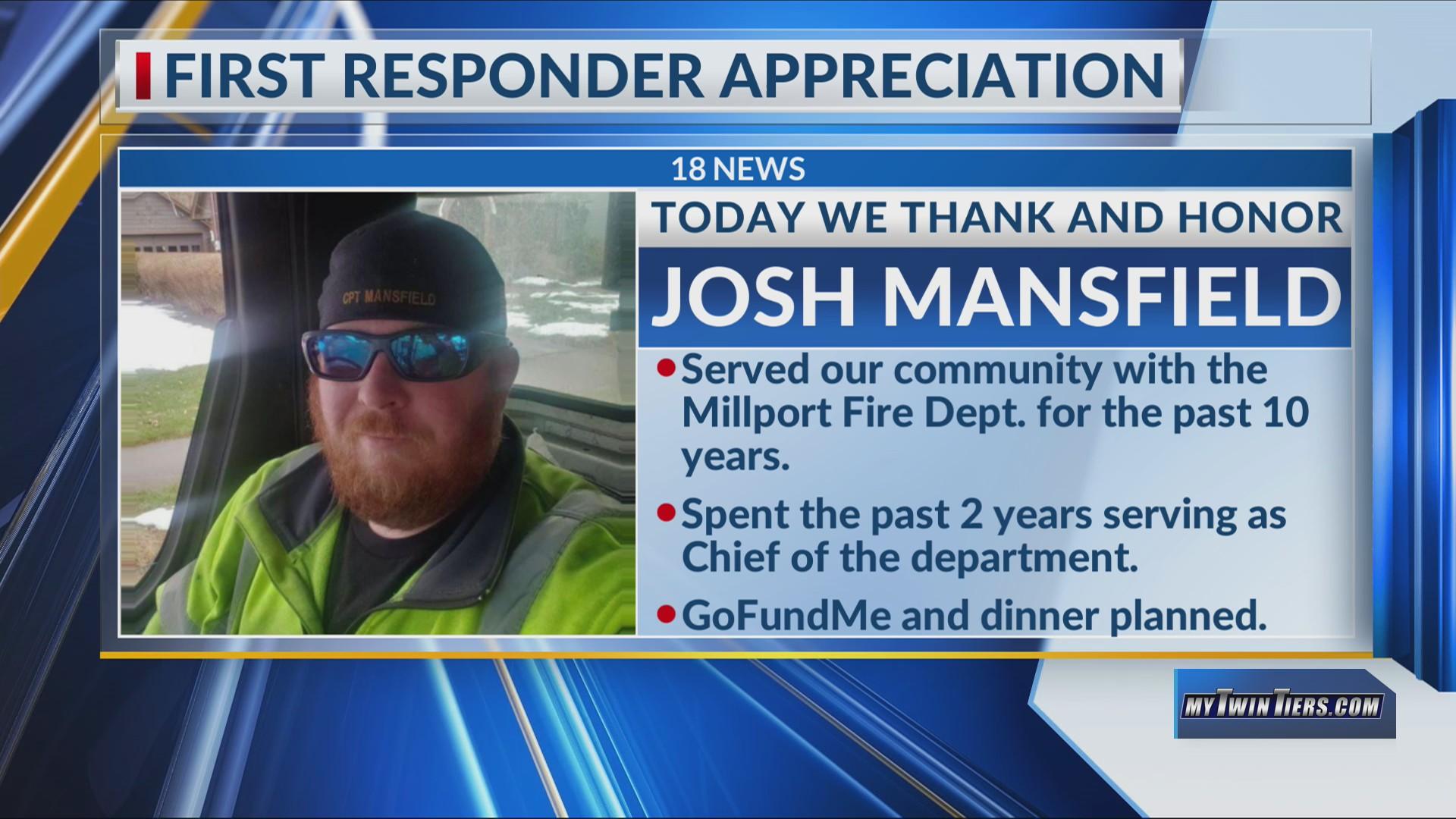 First Responder Appreciation: Josh Mansfield, Millport Fire Department