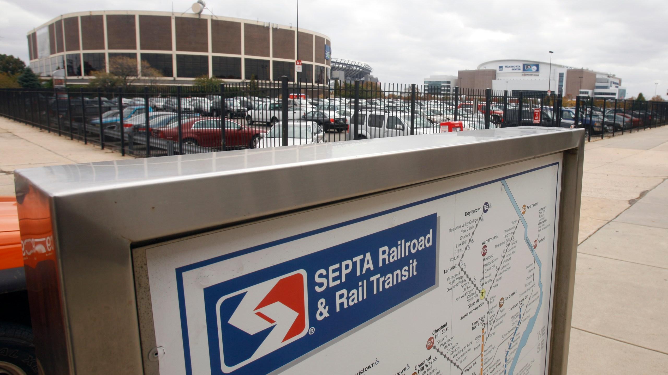 SEPTA railroad sign
