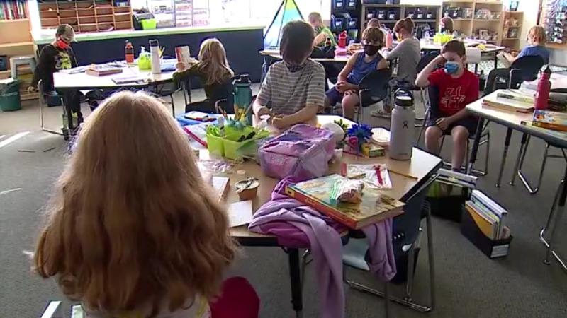 children kids elementary school covid
